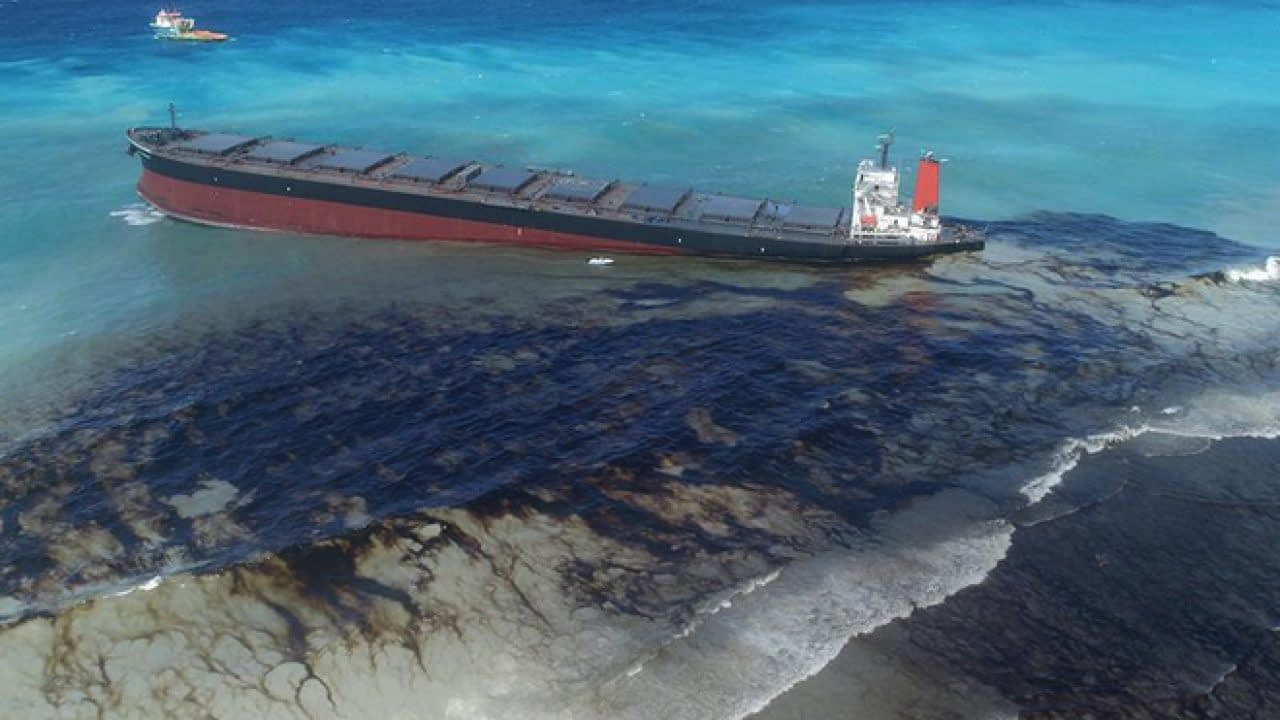 Oil Spill From Ship
