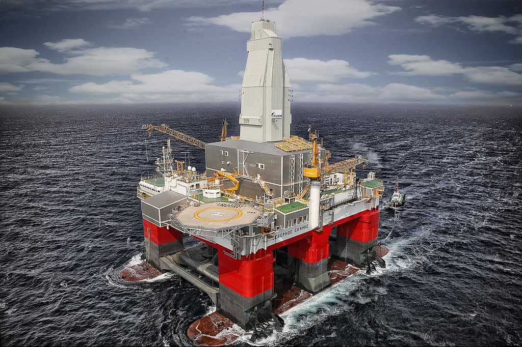 Semi submersible Floating Oil rig