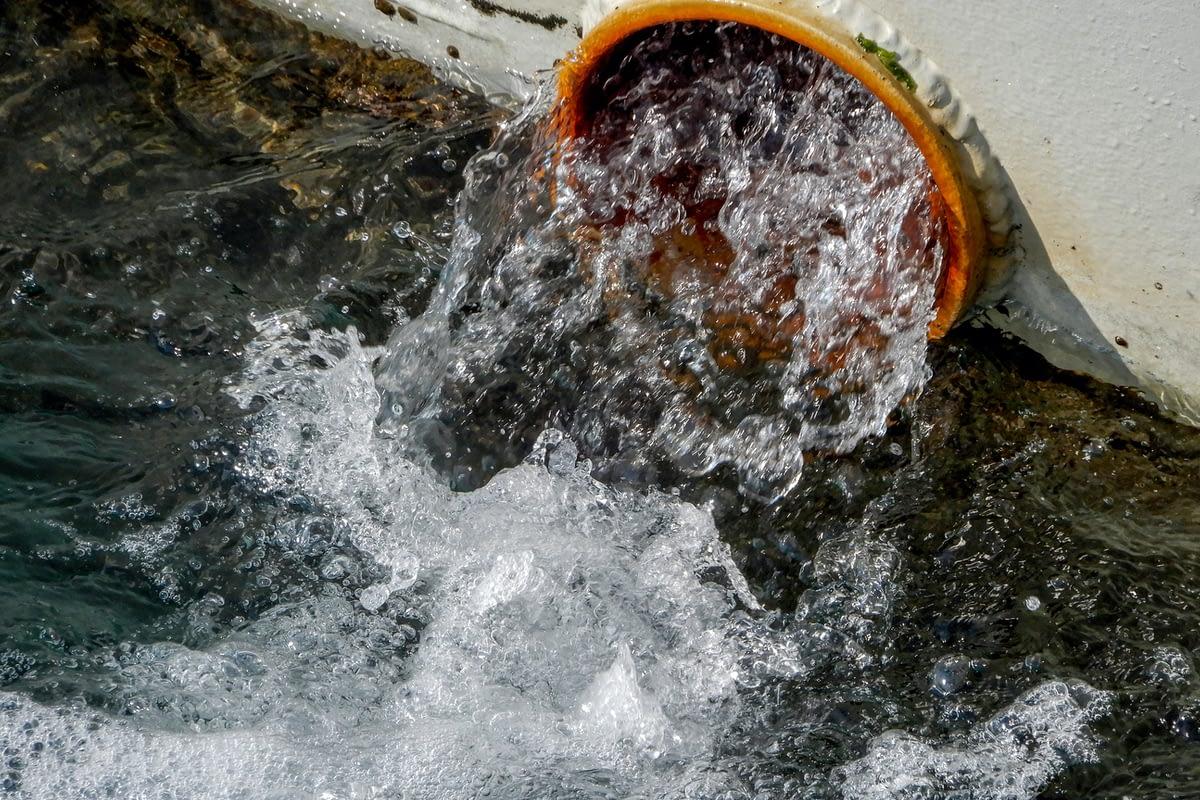 Sewage waste on Ships